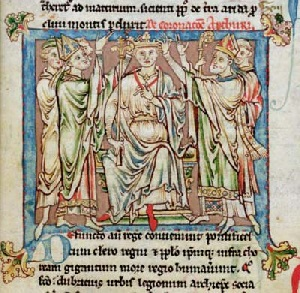 King Arthur, from the Flores Historiarum